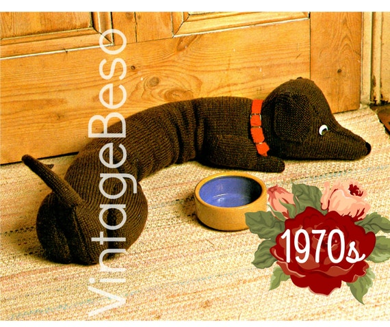 INSTANT DOWNlOAD • PdF Pattern • Draught Excluder KNITTING Pattern ...