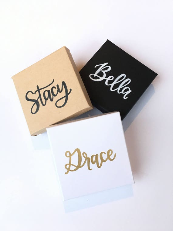 Personalized gift box christmas jewelry box bridesmaid like this item negle Images