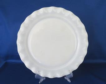 Hazel Atlas Ripple Crinoline Opal Sandwich Plate