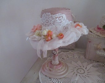 """Boater flowers and lace """"So Shabby Vintage"""""""