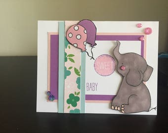 Baby Shower Cards Made by Me with CTMH Products