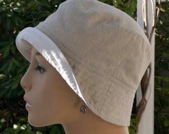 Chemo Hat Organic Cotton Cancer Hat Bucket Hat Made in the USA Small/Medium