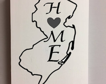 New Jersey is home wall art sign