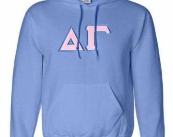 Delta Gamma Lettered Hooded Sweatshirt