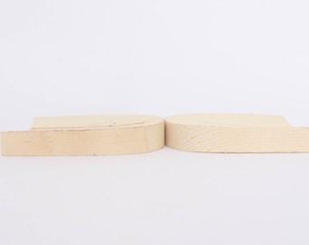 1 pair of men wooden low ( 1.5 cm, 0.6 inch)  heel for men shoe/boot/footwear making