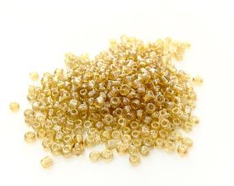 ♥ 10gr rock glass Tan Pearl 2mm♥