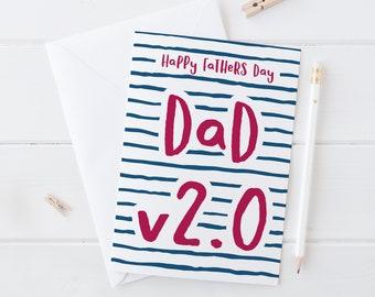 Dad v.2 Fathers Day Card - stepdad card - dad birthday card - card for dad - fathers day - funny card - stepfather - like a dad - funny card