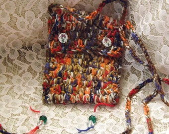 Across body Passport bag, Crochet.