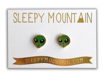 Alien Emoji Earrings - Alien Studs