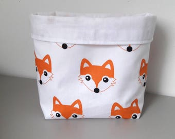tidy medium fabric reversible storage basket