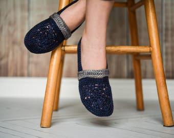 Interstice | Crochet Slippers | PATTERN #34