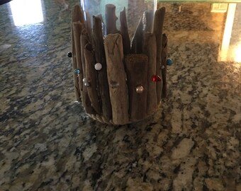Driftwood and Beaded Vase