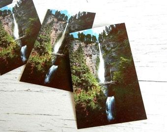 Oregon Postcards Multnomah Falls   Union Oil Company Souvenir   Columbia River Gorge   Pacific Northwest   76 Gasoline Advertising