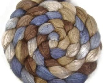 Handpainted Baby Camel/Silk Roving - 4 oz. SANDPIPER - Spinning Fiber