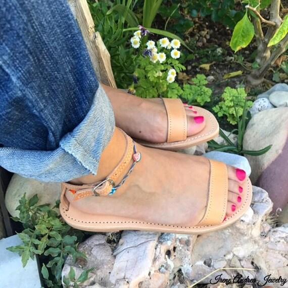 Greek Sandals Greece in Sandals Natural Leather Roman Sandals Women's Sandals Color Sandals Made Sandals Handmade Ancient U5Fwx