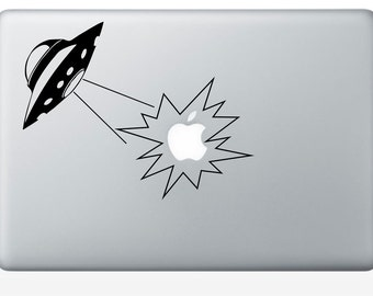 UFO Apple abduction macbook laptop decal (ID: 181006)