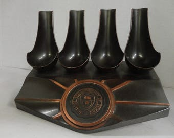 UNIVERSITY of TEXAS - PIPE Holder - 4 Pipe Tobacco Holder