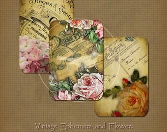 Vintage Ephemera and Flower Images Instant Digital Download