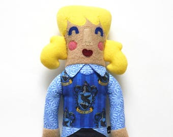Geneviève de Serdaigle maison peluche poupée, harry potter, à colorier, poupée de fille, queues de cheval, blonde, adaptés aux enfants, harry cadeau fan de potter