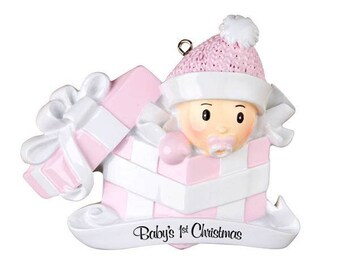 Personalized Baby's 1sr Christmas Ornament