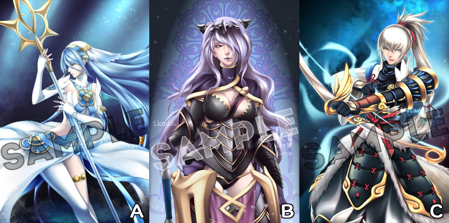 Fire Emblem Fates/Heroes Azura Camilla Takumi