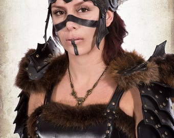 Freya Headpiece - Freya valkyrie warrior woman armor for LARP, action roleplaying and cosplay