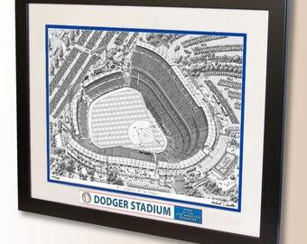 Dodger Stadium Art, home of the Los Angeles Dodgers