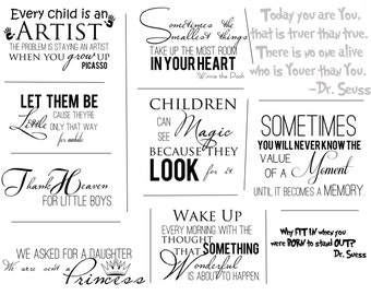 Childrens Artful Words Overlays- SET OF 10