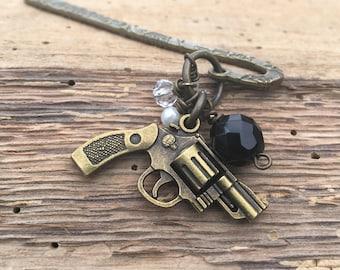 Pistol Charm Bookmark