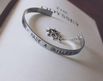 A Smooth Sea Never Made A Skilled Sailor Bracelet Cuff