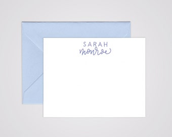 Simple Modern Calligraphy Notepad - Handwritten - Personalized Stationery - Custom - Sets of 10