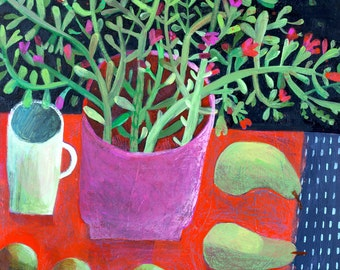 Pink Planter' image 42x59cm print. Signed, limited edition of 50 units. Other sizes by request to este@estemacleod.com