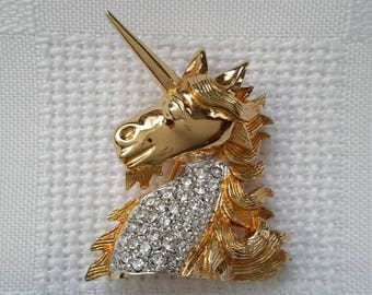 Keyes Unicorn Pave-Set Brooch, c.1970