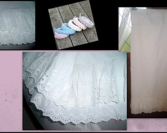 VINTAGE * cotton PETTICOAT and embroidery
