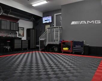 AMG Garage Sign 6 Feet Long Brushed Silver