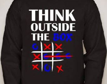 Think Outside the Box Long Sleeve Tee