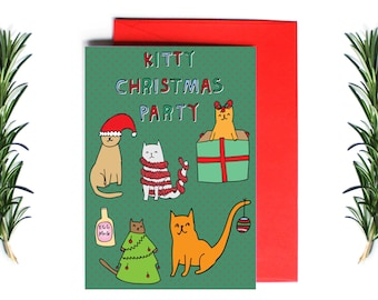 Christmas Cards - Kitty Christmas Party | Greeting Card | Holiday Card