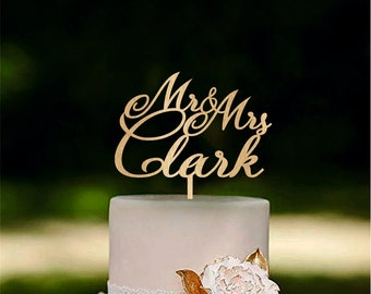 Personalised mr and mrs cake topper Wedding couple cake topper Rustic cake toppers Custom made cake toppers Classic wedding cake toppers