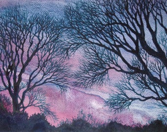 Sunset Lace IV an original watercolor