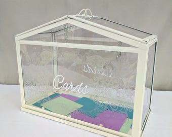Personalized Greenhouse Wedding Card Box, Wedding Decoration, Gift Table, Cards and Gifts, Head Table Centerpiece, Anniversary, Birthday