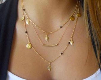 Monogram Gold Layering Necklace