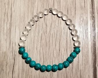 Quartz and Turquoise bracelet
