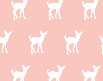 Fawn - Coral Fabric by littlearrowdesigncompany