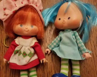 Adorable 1979 Strawberry Shortcake Doll and her Blueberry Muffin Friend