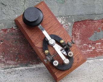 Vintage Mounted Telegraph Key