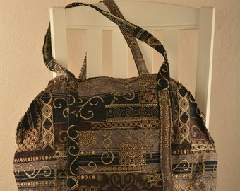 Black Italian quilt Gitana purse