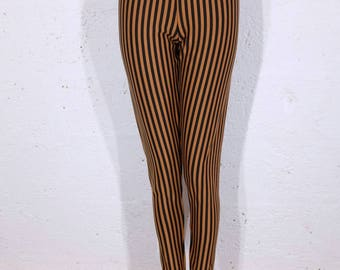Leggings - Size 14 UK - Black and Rust - burning man - EDC Vegas - coachella - bellydance - dance - boho