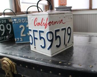 License Plate Pendant Light - California