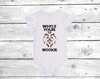 Who's Your Wookie? / JoviGearBaby / Star Wars / Cute Baby Onesie Bodysuit Romper Crawler