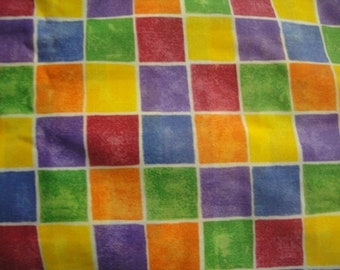 Muted Rainbow Check Design-General Fabrics-BTY